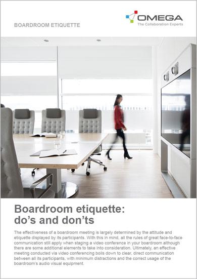 Omega Boardroom Etiquette whitepaper