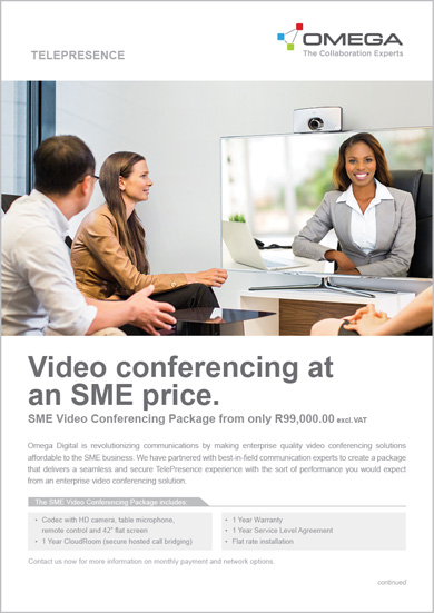 Omega SME Video Conferencing package whitepaper